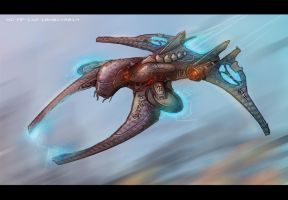 Alien fighter concept by AspectusFuturus