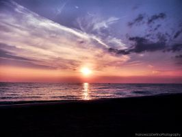 Sunset on the beach 1 by FrancescaDelfino