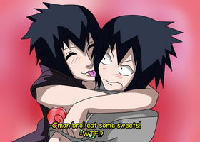 SasuSasu screenshot: eat some sweets~ by itasasu2002