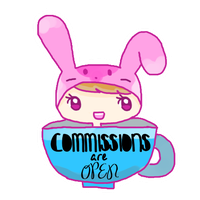 Commish Open Sign by bunniicake