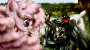 Flufflepuff and Chrysalis by CarligerCarl