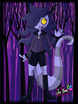 Violet the Ghostly Chaneque girl by Jav-toons
