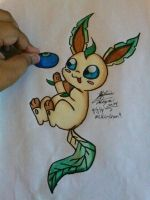 here leafeon have an oran berry! by Miku-chan9