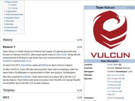 Vulcun Leaguepedia page by roflwaffle07
