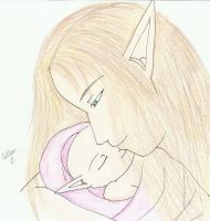 His precious little girl by SapphireAngelBunny