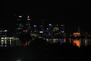 Perth at night by MimmiMe