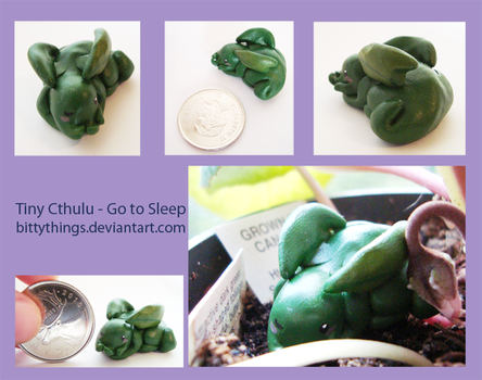 Tiny Cthulu - Go to Sleep - SOLD by Bittythings