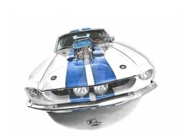 Blown Mustang GT 500 by SIMPSONARTISTRY