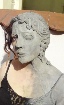 weeping angel makeup face by made-me-a-monster
