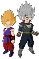 DB Fusions: Kakarot and Fierce Vegito by LeeHatake93