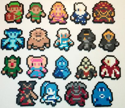Hyrule Warriors Sprites Complete Perler Beads by kamikazekeeg