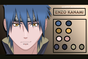 Enzo Kanami shippuden Anime Color by Sarah927