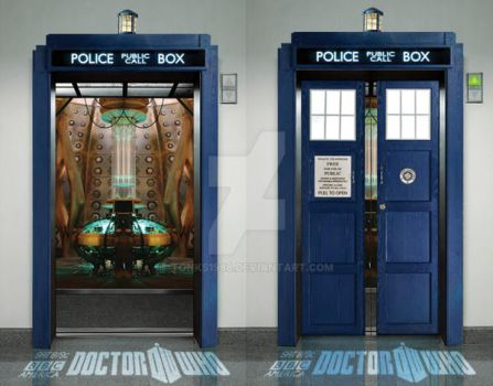 Doctor Who Elevator Ambient Ad by tonks1988