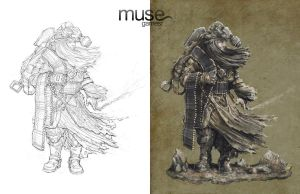 Sketch and Final - Nomad Concept by musegames