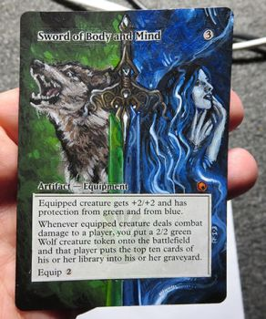 Magic Card Alteration: Sword of Body and Mind 1212 by Ondal-the-Fool