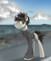 Summer of gray world and blue sky by MyMineAwesome