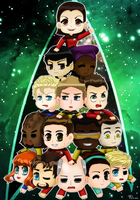 Trek Chibi Pile by Manga-Lauren