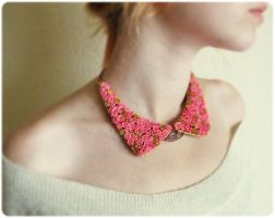 Roses Peter Pan Collar Necklace by IrenkaR
