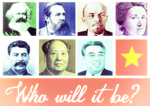 Socialist inspirational poster - who will it be? by xplkqlkcassia