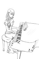 Playing piano by Titania93