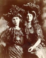 Two Girls c. 1900 by Step-in-Time-Stock
