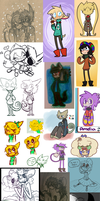 Sketch pile  by DreamerMB