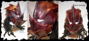 Bloodbathed orc helm by Feral-Workshop