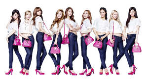 SNSD PNG render [ For Jeans Samantha Thavasa ] by Chocoshim