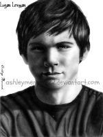 Logan Lerman drawing 4 by ashleymenard122