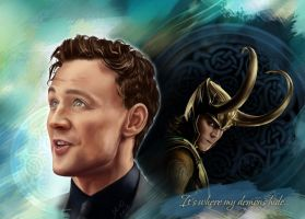 Tom Hiddleston - Loki (It's where my demons hide) by Ya10