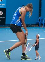 Liz Cambage  charity tennis match by lowerrider