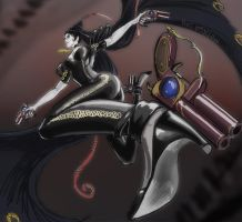 Battle Artist Bayonetta by mothbot