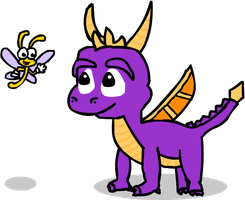 Spyro the Dragon by Cuddlesnowy