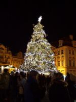 Christmas tree in Prague by EricaOscura