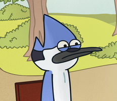 Fan-Art: Mordecai's reaction to Morby by TheWTFage