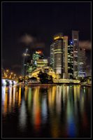 Raffles Place 2 HDR by inckurei