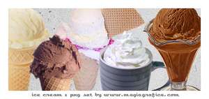 ice creams png set by Magiagrafica
