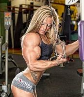 Pulldown muscle girl by Turbo99