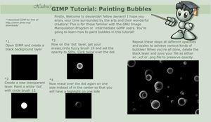 GIMP Tutorial: Bubbles by Xadrea