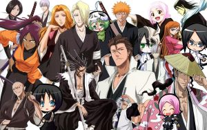 Bleach Collage-Wallpaper 2 by superzproductions