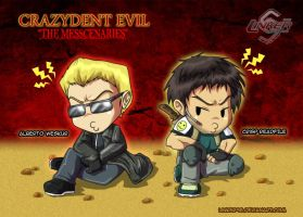 Crazydent Evil- Weskur and Crisp by Linker96