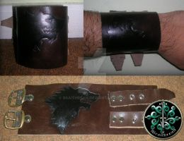 House Stark leather cuff by braithrean