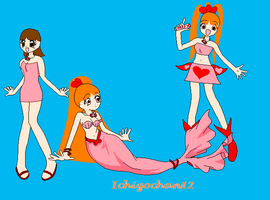 Me Mermaid Melody-All 3 Style by Sexy-Blossom