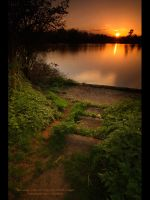 Coate Water at Sunset III by GMCPhotographics