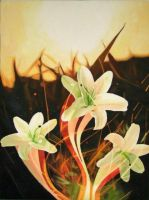 Growth-of-Flower-Oil on Canvas by Oil-Gallery
