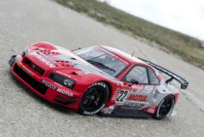 1:18 AutoArt JGTC Nissan Skyline R34 (Motul) by Anths95