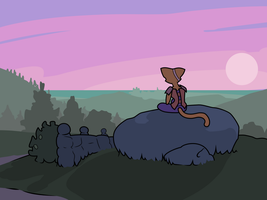Katia watching the sunset - Prequel by the-well-man