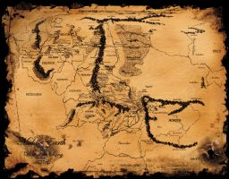 The Middle Earth Map by -electra-