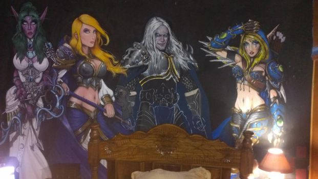 Real Size Warcraft Characters by daniellewhite