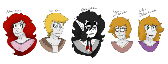 The Avadaer family by The-Capricious-Clown
